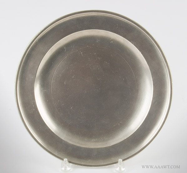 Antique Pewter Plate, 12-inch diameter, Thomas Danforth Boardman, Connecticut, 1805 to 1850, entire view