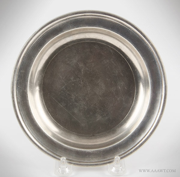 Antique Pewter Plate, 6.25-inch diameter, Danforth and Boardman, Circa 1830 to 1840, entire view