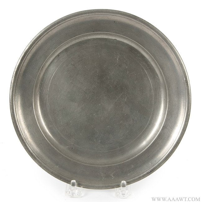 Antique Pewter Plate, 8-inch diameter, Edward Danforth, Circa 1788 to 1794, entire view