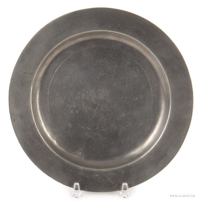 Antique Pewter Plate by Stynt Duncombe, English, entire view