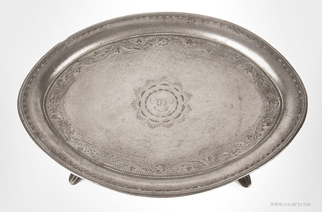 Antique Pewter Teapot Stand by James Vickers, England, entire view