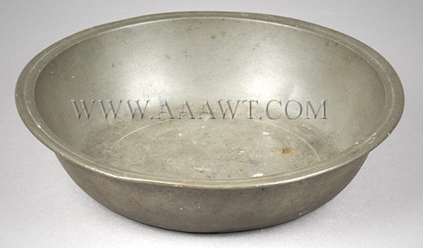 Pewter Basin, Boardman, Thomas Danforth, 8''