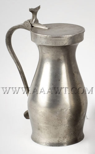 Antique Pewter Tankard Plate Flagon Serving