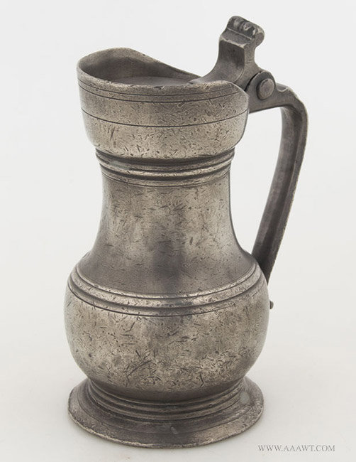 Antique Pewter Pichet, French, 18th Century, entire view