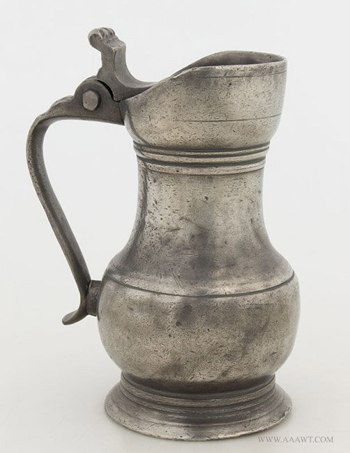 Antique Pewter Pichet, Chartres, France, 18th Century, entire view