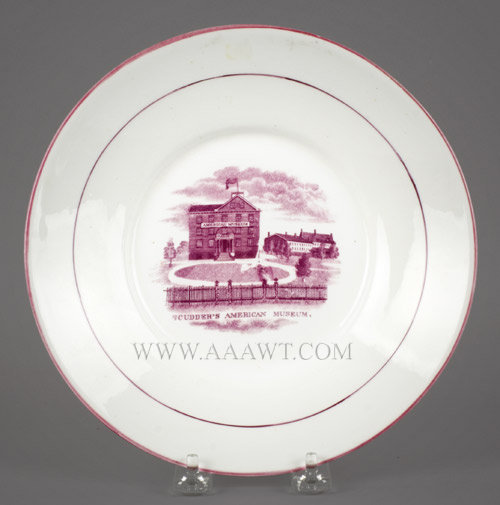 Porcelain Plate, Scudder's American Museum, 8.5''