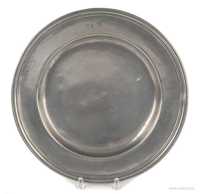 Antique Pewter Multi Reed Plate, London, entire view