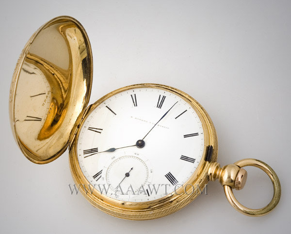 Pocket Watch, E. Howard & Co., Gold, Reed's Patent, #10152 Boston, Massachusetts 19th Century, entire view