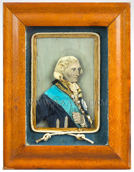 Horatio Nelson Portrait, Mixed Media, Lithograph Face