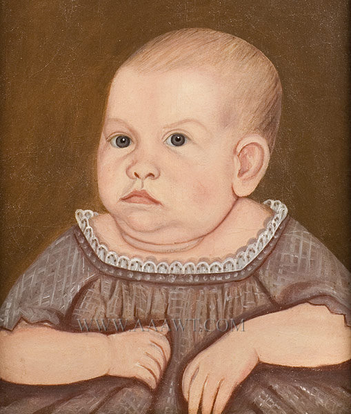 Portrait, Josephine Connor Life Size, at age of three months John Denny Conner (1820 to 1884), entire view