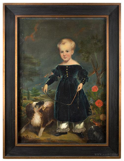 Antique Portrait of Devillo White Corbin, by Tompkins Harrison Matteson, entire view
