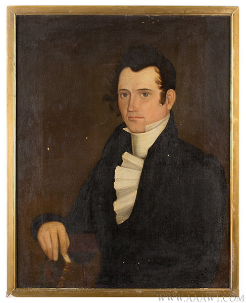 Portrait, Simon Adams (1796 to 1847), American School Anonymous, Early 19th Century, entire view