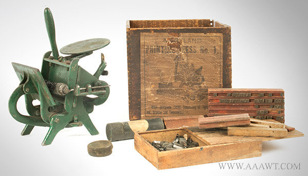 Child's Printing Press by Maryland Printing Press with Box, entire view
