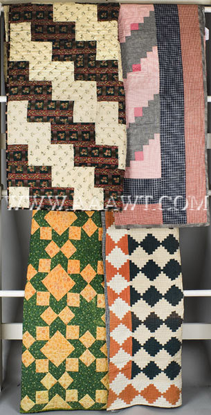 Antique Quilts, Group of Four, group entire view