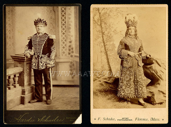 Antique Costumes, Improved Order of the Redmen, Fraternal, photograph of different costumes