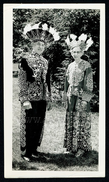 Antique Costumes, Improved Order of the Redmen, Fraternal, photograph of costumes