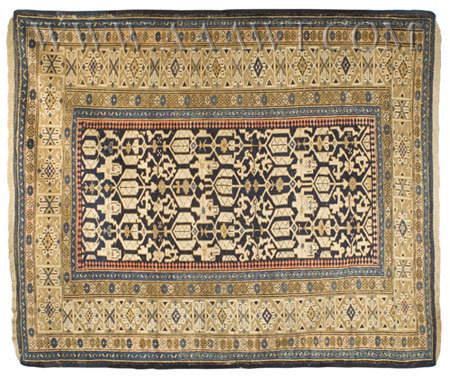 Antique Carpet, Shirvan, Circa 1880, entire view