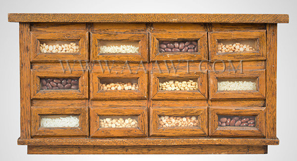 Seed and Bean Counter, Salesman's Sample, Country Store Unknown Maker 1st Half 20th Century, entire view