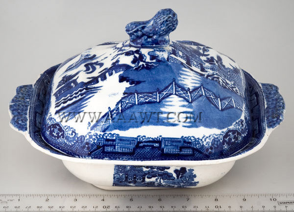 Blue Willow Transfer, Serving Dish