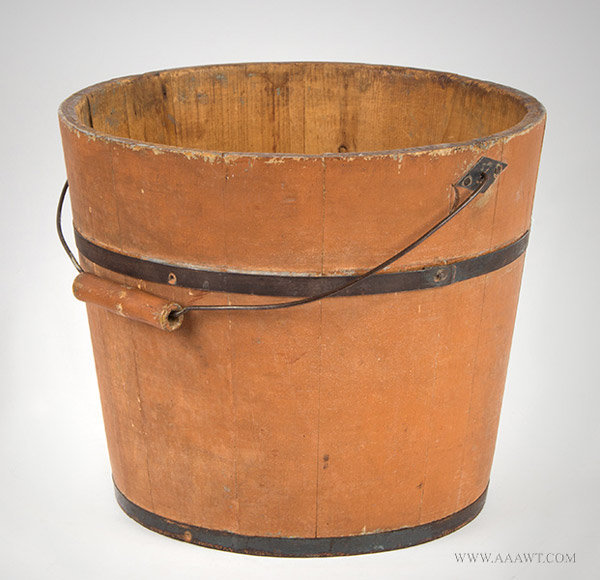 Antique Shaker Type Pail with Original Surface History, New Hampshire, 19th Century, entire view