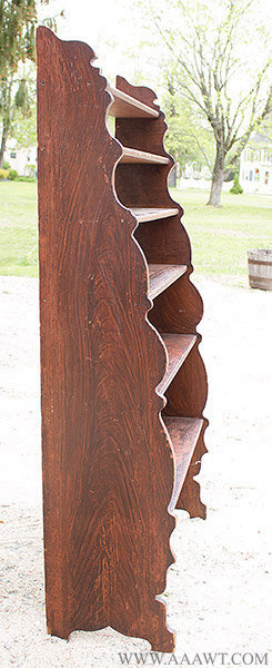 Floor Standing Shelves, Shaped Front, Paint Decorated, 19th Century, side view 2