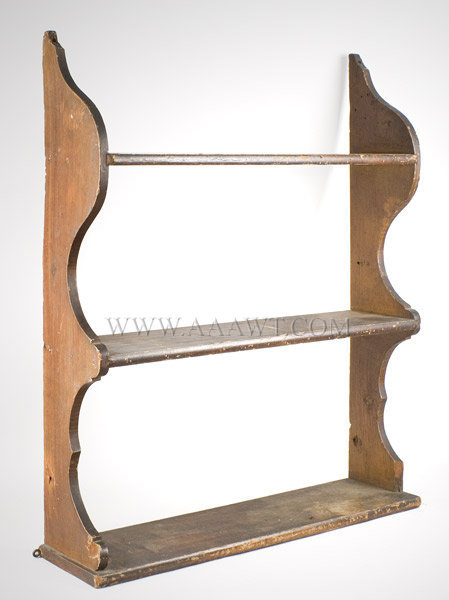Shelves, Hanging, Original Grain Paint  New England or New York State  19th Century, angle view