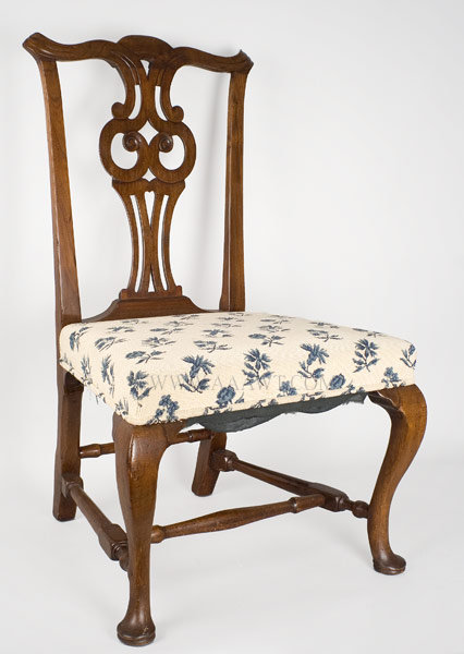 Chair  Side Chair  Queen Anne Salem  Massachusetts Circa 1770  Walnut   SOLDAntique Furniture Chairs Formal  Upholstered  Sofas. Antique Queen Anne Upholstered Chairs. Home Design Ideas