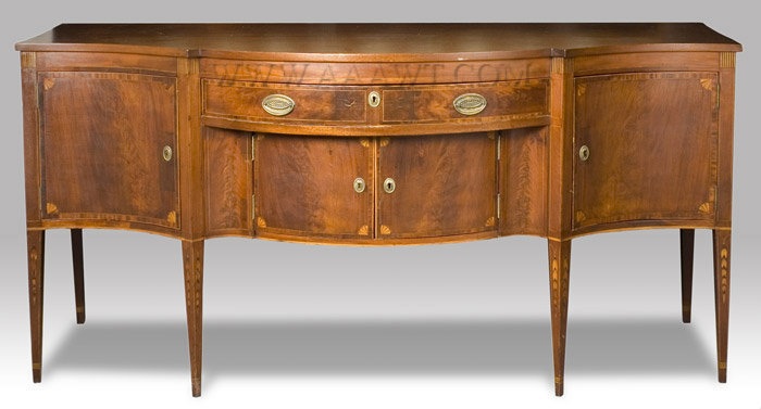 Federal Inlaid Mahogany Sideboard  New York  Circa 1795, entire view