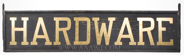 Antique Trade Sign, Hardware Sign, 19th Century, entire view