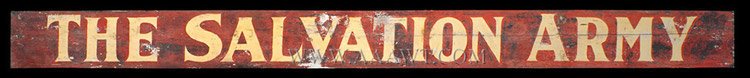 Antique Sign, The Salvation Army, Early 20th Century, entire view