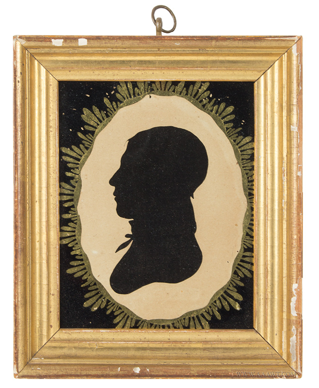 Antique Hollow Cut Silhouette of a Gentleman from the Peale Museum, 19th Century, entire view