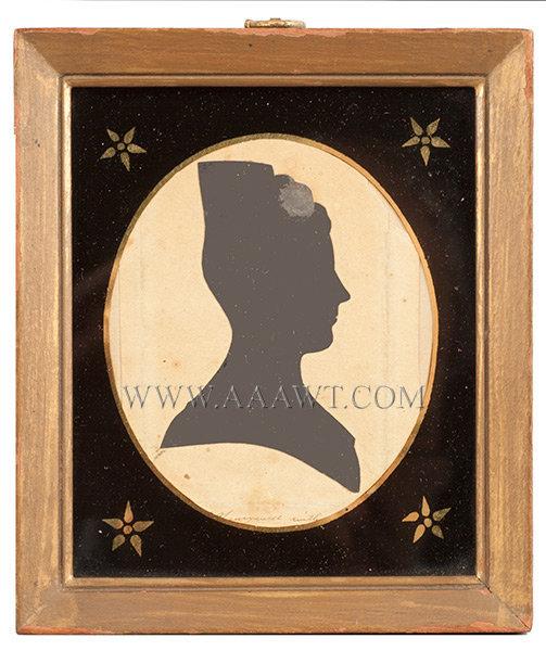 Silhouette of Woman, by Honeywell, Martha Ann American, C. 1815, entire view