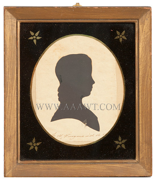 Silhouette of Woman by Honeywell, Martha Ann  American, C. 1815, entire view