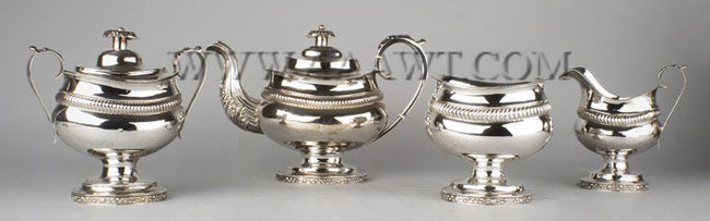 Silver, Tea Service, Assembled