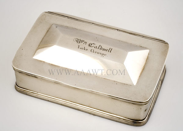 Coin Silver Smoking Box