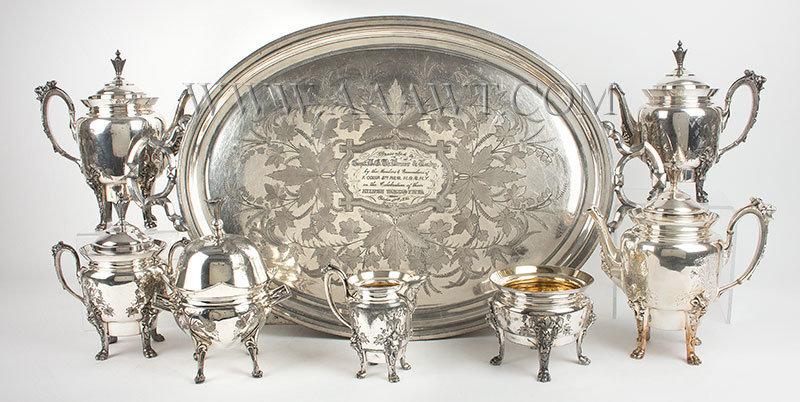 Antique Silver Hollowware, Boxes, Bowls, Tableware