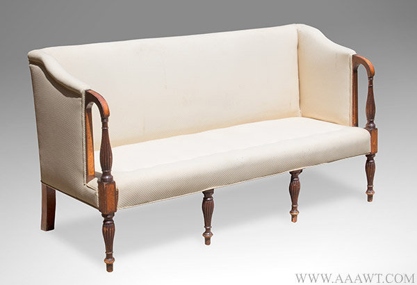 Antique Furniture Chairs Formal Upholstered Sofas. Sheraton Mahogany Portsmouth  Nh ...