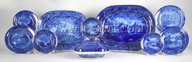 Staffordshire Plates, Bowls, Platters Sold separately, entire view