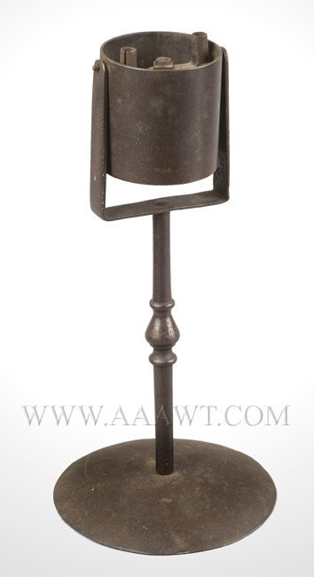 Fat Lamp, Grease Lamp, Trunnion or Gallows Lamp, Dual Wick Support