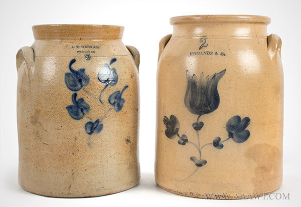 Antique Jugs Crocks Pitchers Stoneware Bennington