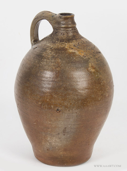 Antique Jugs Crocks Stoneware Bennington Cobalt Decoration