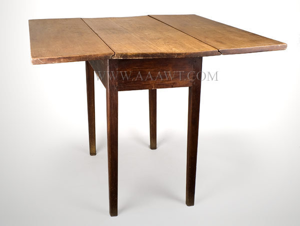 Table, Drop Leaf, Scrubbed Top Labeled Cherry, entire view 3