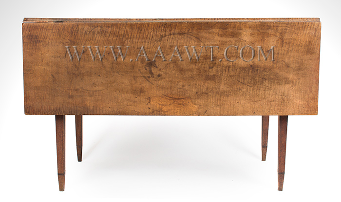 Table, Hepplewhite Drop Leaf, Figured Maple in Original Surface New England, Circa 1790, entire view