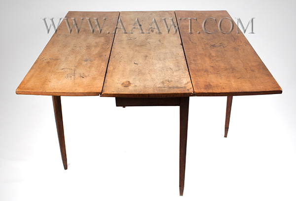 Table, Hepplewhite Drop Leaf, Figured Maple in Original Surface New England, Circa 1790, angle view 2