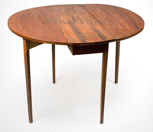 Drop Leaf Table, Diminutive Delicate Pembroke, Original Paint, Swing Leg New England, Circa 1790, open view