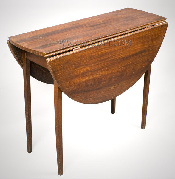 A Beautifully Proportioned Table Of Oval Shape; The Falling Leafs Are  Tongue And Groove And Are Attached By Original Butterfly Hinges; Delicate  Tapered Legs ...