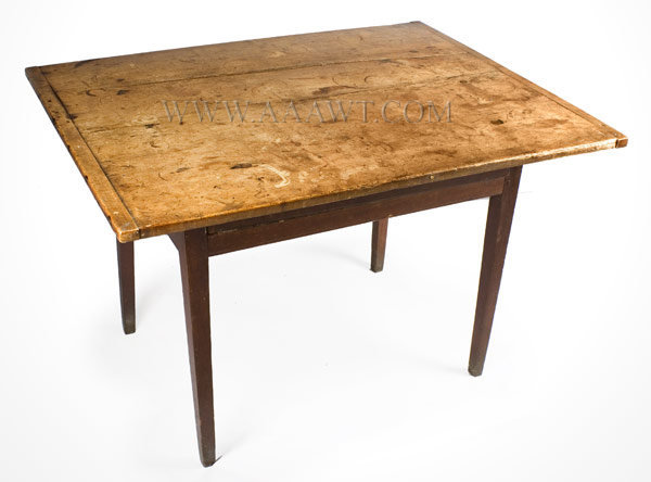 Tap Table, Country Hepplewhite, Original Red Paint New England Circa 1800  To 1820   SOLD