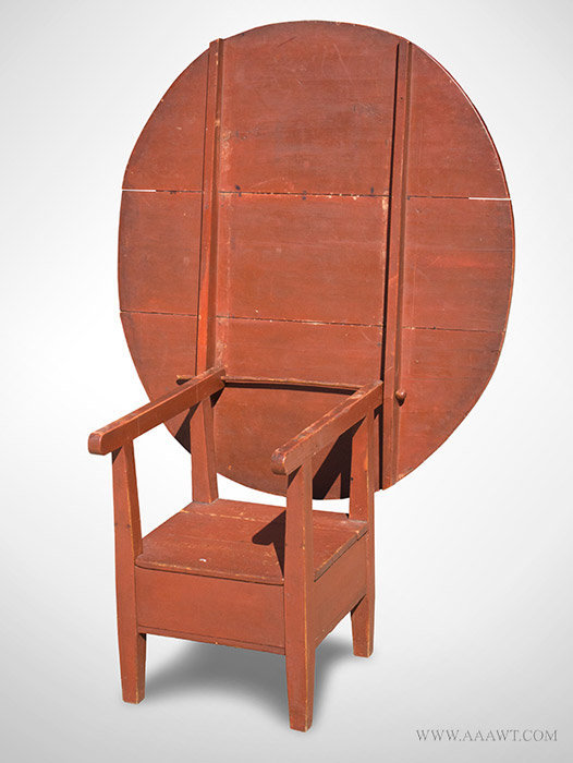 Antique Chair/Hutch Table in Original Paint, New York State, 19th Century, - Antique Furniture_Tavern Tables, Chair Tables, Hutch Tables, Harvest