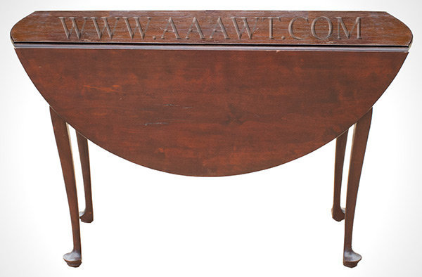 Queen Anne Drop Leaf Table, Old Surface New England Circa 1760, entire view