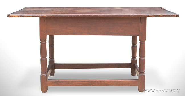 Large Antique Tavern Table in Refectory Form, Massachusetts, Circa 1720, entire view